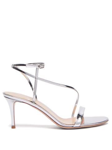 Matchesfashion.com Gianvito Rossi - Carlyle 70 Patent Leather Sandals - Womens - Silver