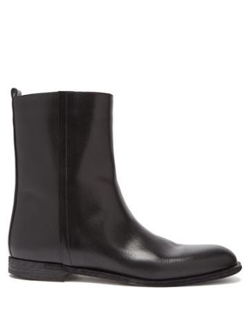 Matchesfashion.com Maison Margiela - Zipped Leather Ankle Boots - Mens - Black