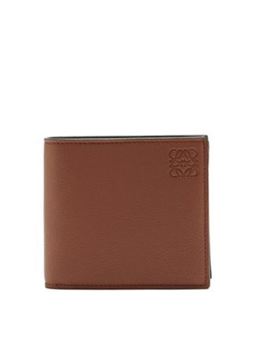 Matchesfashion.com Loewe - Bi-fold Grained-leather Wallet - Mens - Brown