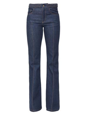 Matchesfashion.com Chlo - Mid-rise Flared Jeans - Womens - Denim