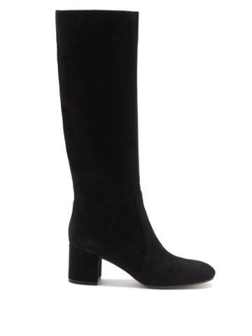 Matchesfashion.com Gianvito Rossi - Knee-high 45 Suede Boots - Womens - Black