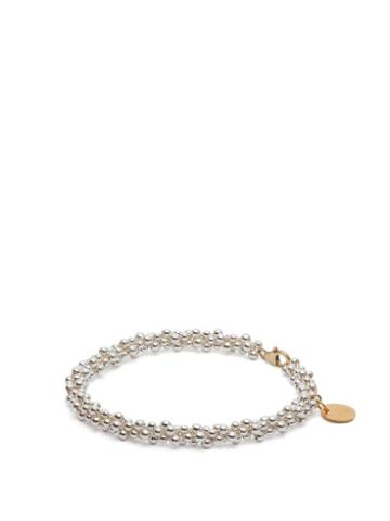 Matchesfashion.com Alighieri - Il Leone Sterling Silver & 24kt Gold Plated Anklet - Womens - Silver