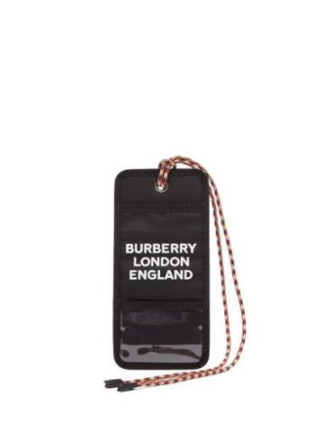 Matchesfashion.com Burberry - Logo Print Cardholder Necklace - Mens - Black