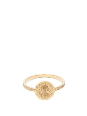 Matchesfashion.com Anissa Kermiche - Louise D'or 18kt Gold & Diamond Ring - Womens - Gold