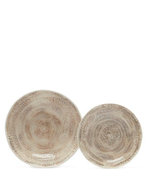 Matchesfashion.com Brunello Cucinelli - Glazed-ceramic Dish And Plate Set - Cream