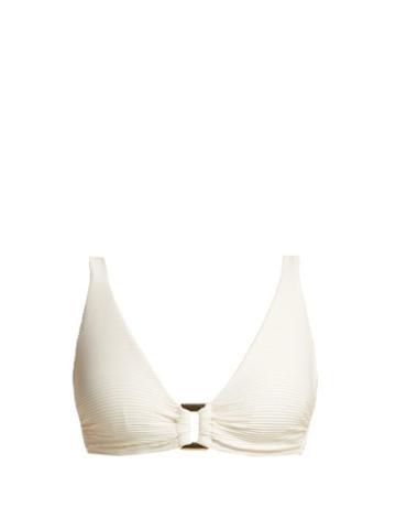Matchesfashion.com Heidi Klein - Cte D'azur D G Bikini Top - Womens - Cream