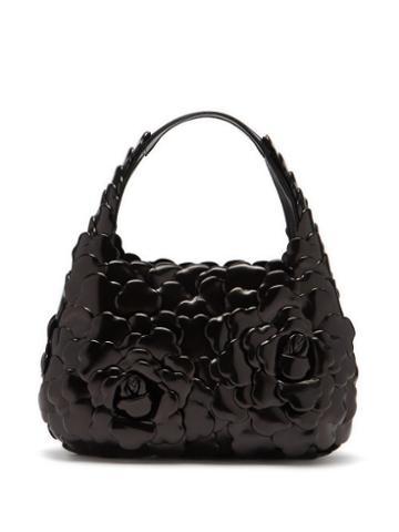 Valentino Garavani - Atelier Small Petal-effect Leather Shoulder Bag - Womens - Black