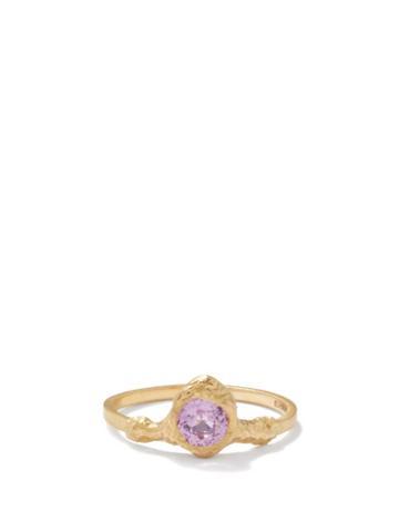 Elhanati - Palmira Sapphire & 18kt Gold Ring - Womens - Yellow Gold