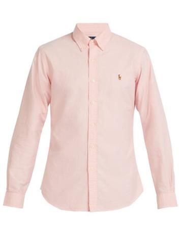 Matchesfashion.com Polo Ralph Lauren - Slim Fit Cotton Oxford Shirt - Mens - Pink
