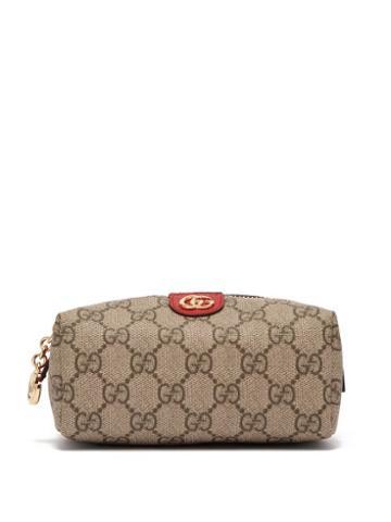 Matchesfashion.com Gucci - Ophidia Gg Supreme Canvas Cosmetics Case - Womens - Grey Multi