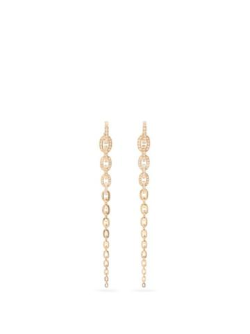 Matchesfashion.com Sophie Bille Brahe - Georgia Grande Diamond & 18kt Gold Earrings - Womens - Yellow Gold