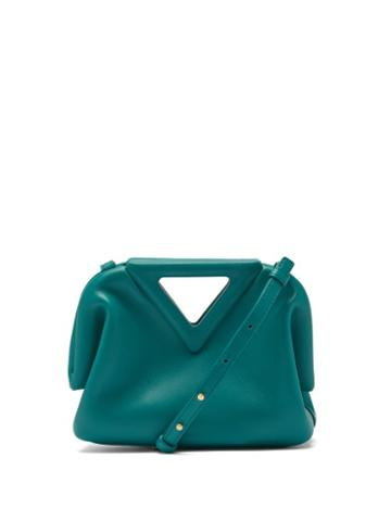 Matchesfashion.com Bottega Veneta - The Triangle Leather Clutch Bag - Womens - Dark Green