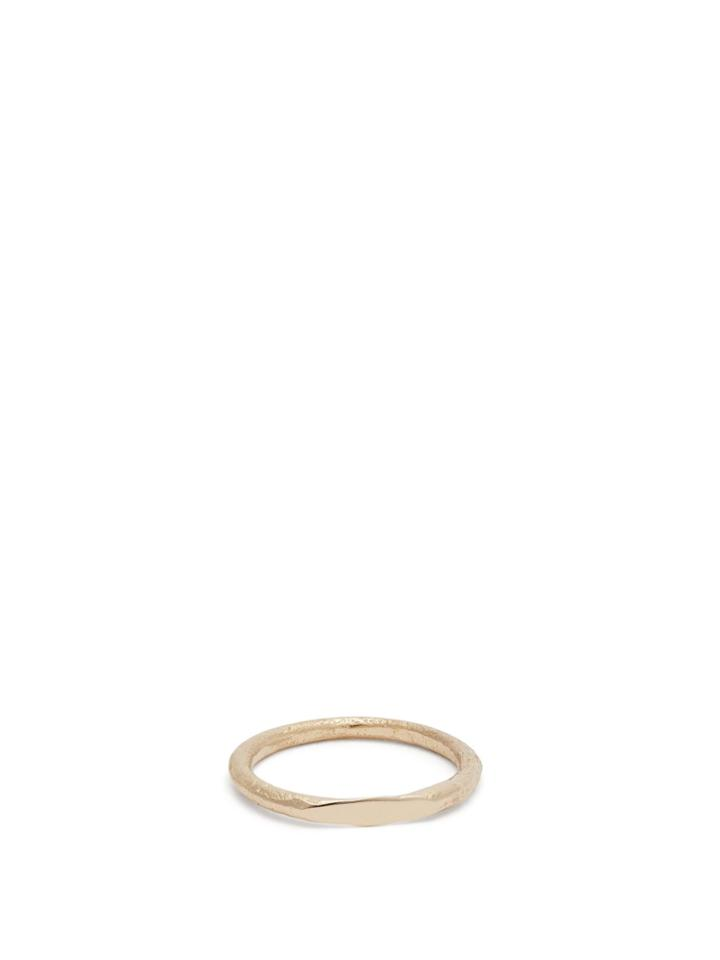 Pearls Before Swine Hammered Gold Ring