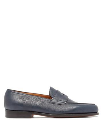 Matchesfashion.com John Lobb - Lopez Leather Penny Loafers - Mens - Blue