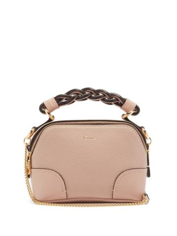 Matchesfashion.com Chlo - Daria Mini Leather Top-handle Bag - Womens - Light Pink