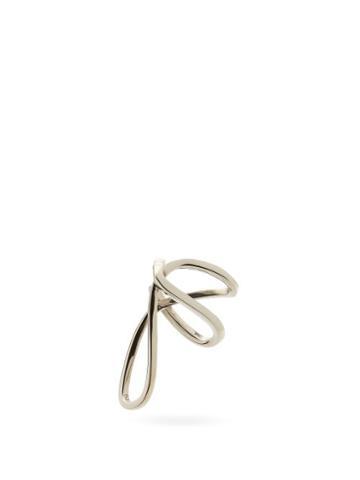 Matchesfashion.com Alan Crocetti - Space Warp Rhodium-plated Ear Cuff - Mens - Silver