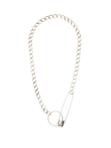 Matchesfashion.com Martine Ali - Pin Chain Link Silver Plated Necklace - Mens - Silver