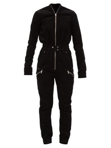 Matchesfashion.com Rick Owens - Corduroy Jumpsuit - Womens - Black