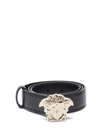 Matchesfashion.com Versace - Medusa-buckle Leather Belt - Womens - Black