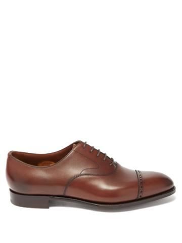 Matchesfashion.com Edward Green - Berkeley Leather Oxford Shoes - Mens - Brown