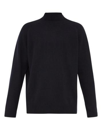 Matchesfashion.com Raey - Sloppy Funnel Neck Cashmere Sweater - Mens - Navy