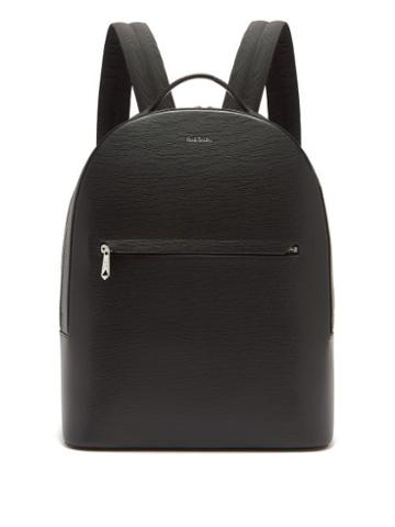 Matchesfashion.com Paul Smith - Embossed Leather Backpack - Mens - Black