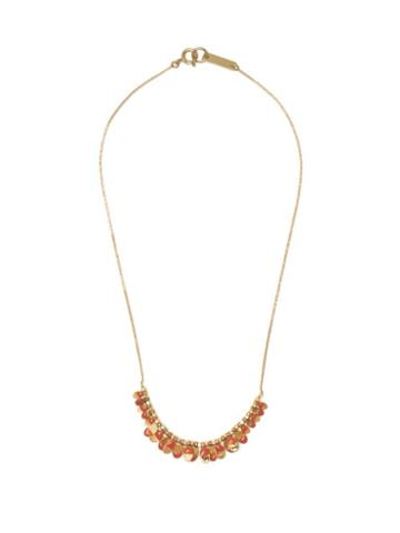 Matchesfashion.com Isabel Marant - Leaves Enamel And Metal Necklace - Womens - Pink