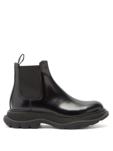 Matchesfashion.com Alexander Mcqueen - Tread Leather Chelsea Boots - Womens - Black