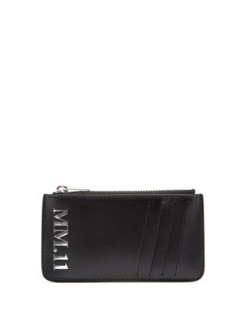 Matchesfashion.com Maison Margiela - Mm.11-embossed Leather Wallet - Mens - Black