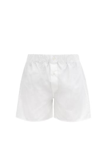 Matchesfashion.com Emma Willis - Superior Cotton-poplin Boxer Shorts - Mens - White