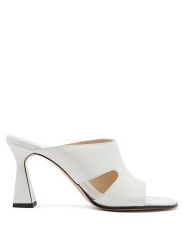 Matchesfashion.com Wandler - Marie Cutout Leather Mules - Womens - White