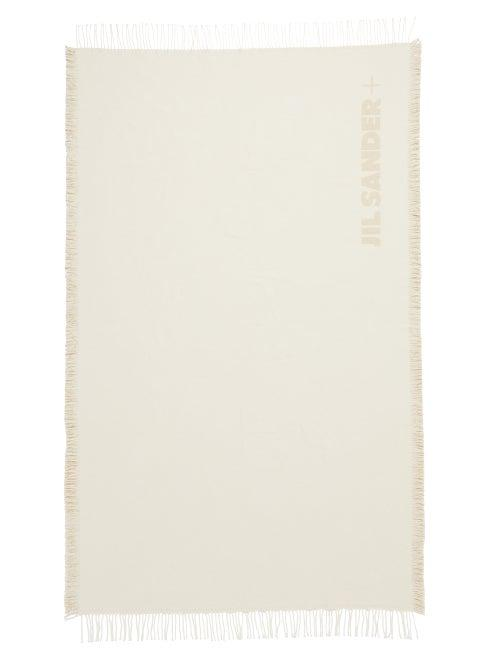 Matchesfashion.com Jil Sander - Logo-jacquard Fringed Cotton Throw - Cream