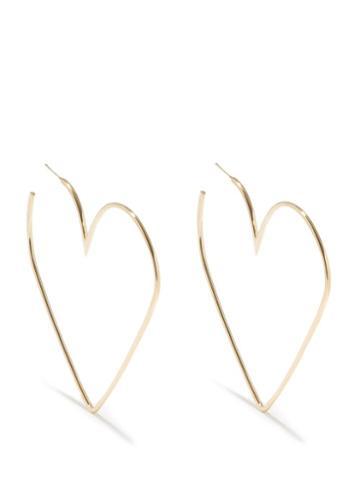 Isabel Marant - Heart Hoop Earrings - Womens - Gold