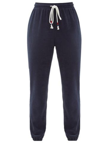 Matchesfashion.com The Upside - Florencia Cotton-blend Terry Track Pants - Womens - Navy