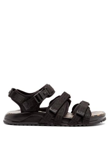 Matchesfashion.com Versace - Greca-woven Velcro-strap Sandals - Mens - Black