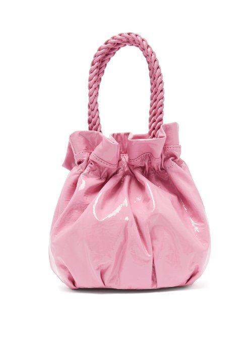 Matchesfashion.com Staud - Grace Patent Leather Clutch - Womens - Pink