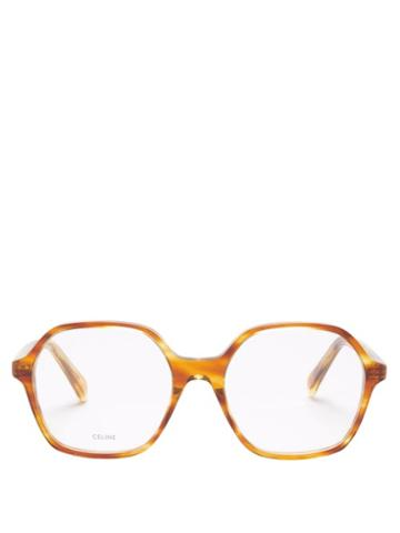 Celine Eyewear - Oversized Square Tortoiseshell-acetate Sunglasses - Womens - Tortoiseshell
