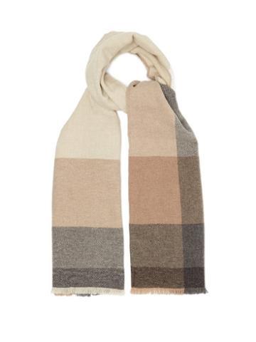 Matchesfashion.com Brunello Cucinelli - Checked Wool-blend Scarf - Mens - Multi