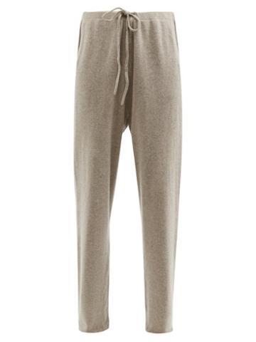 Extreme Cashmere - No.142 Run Stretch-cashmere Wide-leg Track Pants - Womens - Beige