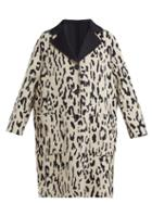 Matchesfashion.com Max Mara Studio - Turku Coat - Womens - Cream Navy