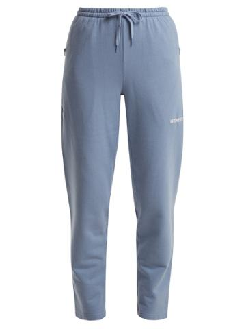 Vetements Logo-embroidered Cotton-blend Track Pants