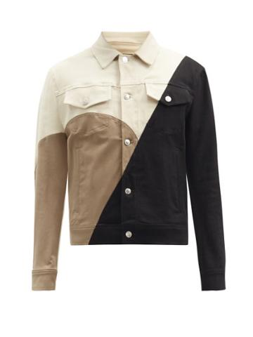 Matchesfashion.com Neil Barrett - Modernist Panelled Denim Jacket - Mens - Black Multi