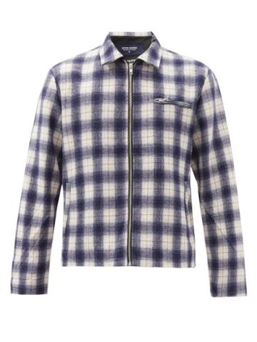 Matchesfashion.com Noon Goons - Anderson Check Flannel Jacket - Mens - Navy
