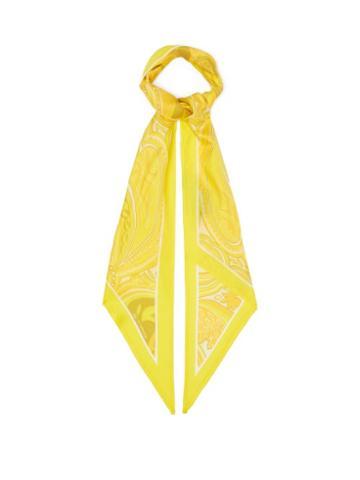 Matchesfashion.com Etro - Antibes Paisley Silk-twill Scarf - Womens - Yellow Multi