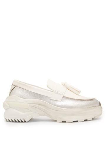 Matchesfashion.com Maison Margiela - Tassel Platform Leather Loafers - Mens - White
