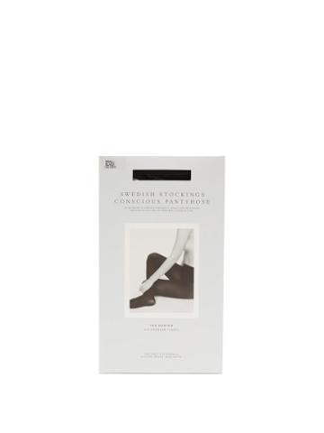 Ladies Lingerie Swedish Stockings - Lia 100-denier Tights - Womens - Black