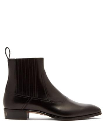 Matchesfashion.com Gucci - Plata Leather Chelsea Boots - Mens - Black
