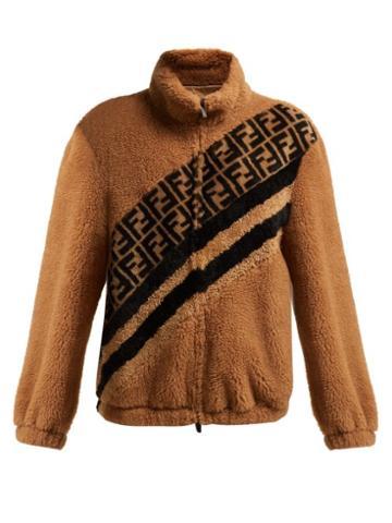 Matchesfashion.com Fendi - Ff Faux Shearling Jacket - Womens - Cream Multi