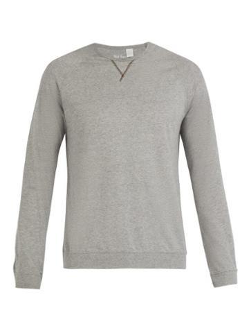 Matchesfashion.com Paul Smith - Crew Neck Cotton Jersey Pyjama Top - Mens - Navy