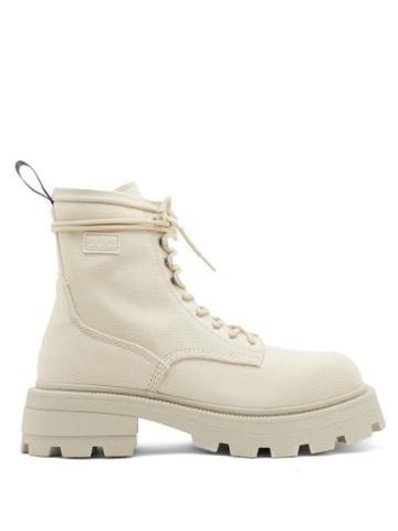 Matchesfashion.com Eytys - Michigan Canvas Combat Boots - Mens - Light White